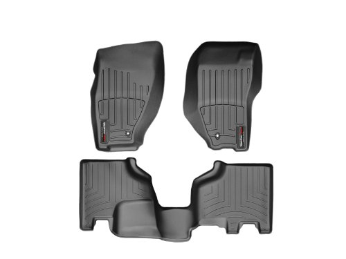 WeatherTech Custom Fit FloorLiner for Jeep Liberty - 1st & 2nd Row (Black)