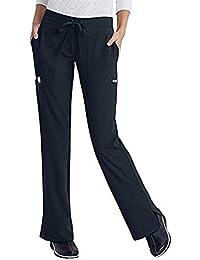 Grey's Anatomy Junior Fit 5 Pocket Mid-Rise Miranda Cargo Scrub Pant (Radiance / Black, XS)