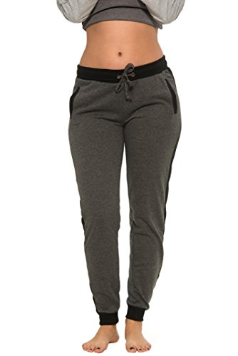 Stretch Jersey Stripe Hoody (Coco-Limon Women Regular & Plus-Size Jogger Sweatpants , Long Slim Fit,3X,Heather Charcoal)
