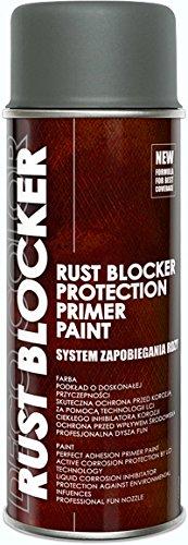 1 Stück 400 ml Rust Blocker 4in1 Metallschutzlack Rost Stop Lack grau matt RAL 7011 18500