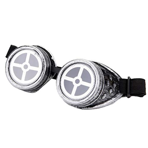 Halloween Party Vintage Steampunk Goggles Spiked Cross-shaped Festivals Rave Glasses -