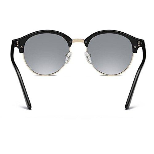los la protección unisex Coolsir retro de capítulo PC de polarizadas lentes Gafas vidrios de UV400 aleación gafas la de 3 redonda sol forma de RO5Cq