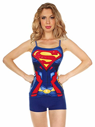 Superman+tank+tops Products : DC Comics Supergirl Rivets Anatomical Cami Short Set