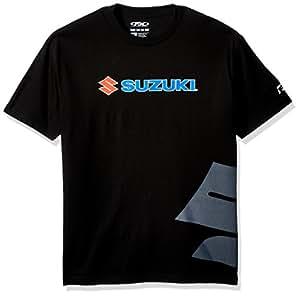 Factory Effex 15-88472 Suzuki Big 'S' T-Shirt (Black, Large)