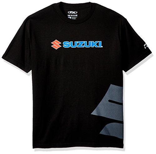 Factory Effex 15-88472 Suzuki Big 'S' T-Shirt (Black, - T-shirt Racing Factory