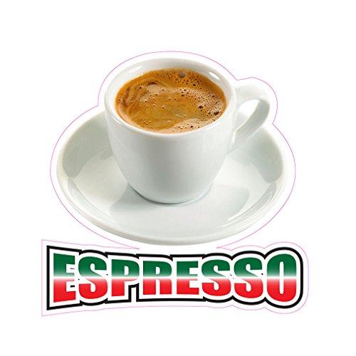 Espresso Concession Restaurant Food Truck Die-Cut Vinyl Sticker 24 inches by Fastasticdeals