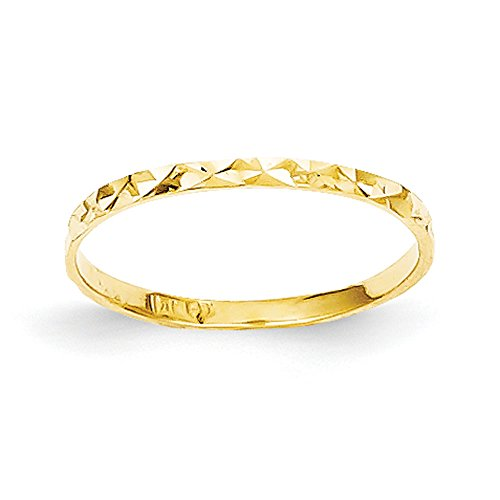 Baby and Children 14K Yellow Gold Band Ring ()
