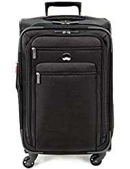Delsey Luggage Helium Sky 2.0, Medium Checked Luggage, Spinner Suitcase, Black