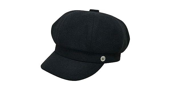 sdssup Elegante Boina M estándar Sombrero Temporada Femenino Negro ...