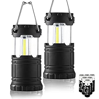 2 Pcs LED Camping Lantern,Taclight Pro Lantern With Collapsible Handle,Portable COB Light For Survival Kit,Hurricane,Gift,Emergency