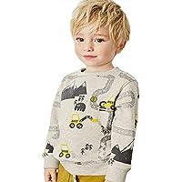 Bumeex Little Boys Cotton Cute Crew Neck Long Sleeve Sweatshirt