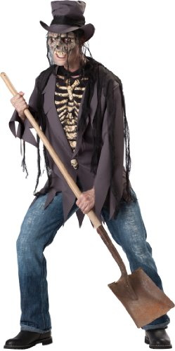 [InCharacter Costumes, LLC Men's Grave Robber Costume, Black, Large] (Robber Costume Halloween)