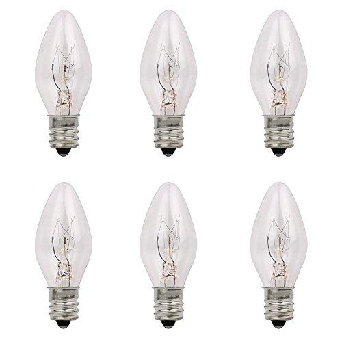 Venhoo 7 Watt Himalayan Salt Lamp Light Bulbs Replacement Incandescent Candelabra Bulbs for Night Lights E12 Socket-7 - Watts 7