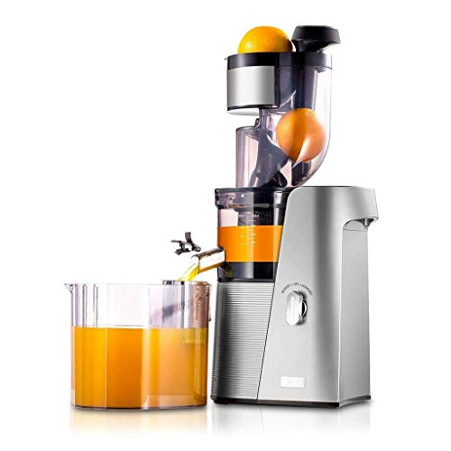SKG A10 Cold Press Slow Masticating Juicer, 36 RPM Quiet Motor High Yield Anti-Oxidation, Easy to Clean Big Mouth BPA Free, Fruit Vegetable Wheatgrass Orange Juice Extractor, Silver ()