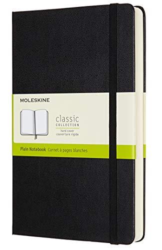 Moleskine Classic Expanded Notebook, Hard Cover, Large (5 x 8.25) Plain/Blank, Black