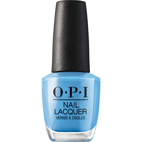bright blue opi nail polish - 1