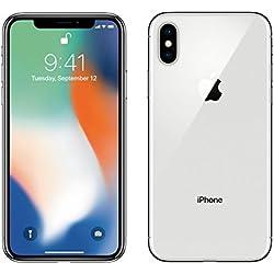 Apple iPhone X Unlocked SIM-Free Work with Both GSM CDMA (Silver, 64 GB)