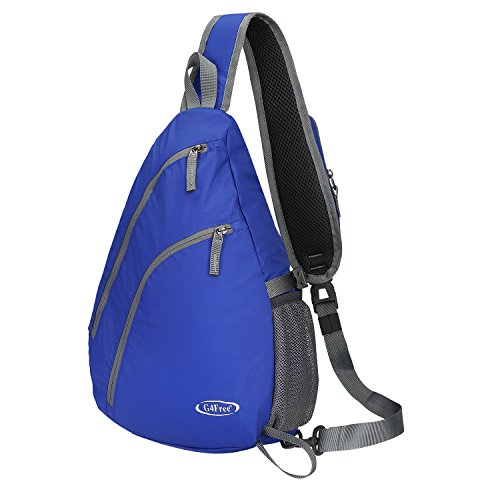 G4Free Sling Shoulder Backpack Chest Crossbody Bag One Strap bag for School Men Women, Girls Boys Lightweight Triangle Pack Rusksack Hiking Camping Bicycles Daypacks 15L(Dark Blue)