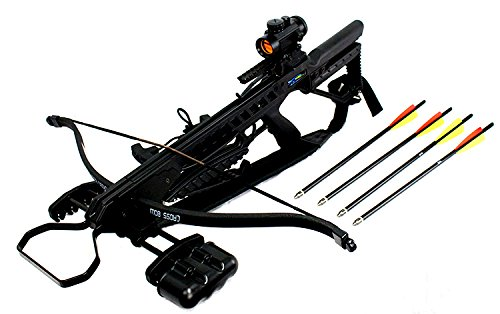 Last Punch 175 LBS Recurve Hunting Crossbow Package Scope Rope Arrows Sling Stringer 245 FPS