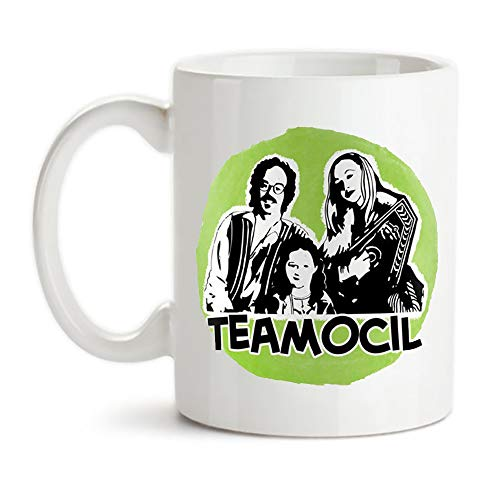 KeepRolling - Teamocil Mug - Tobias Funke - Coffee - Tea - Drugs - Natural Life Food - Family Band - There's no 'i' in Teamocil - Famous Quotes, 11oz Ceramic Coffee Novelty Mug/Tea Cup, Mug Gift