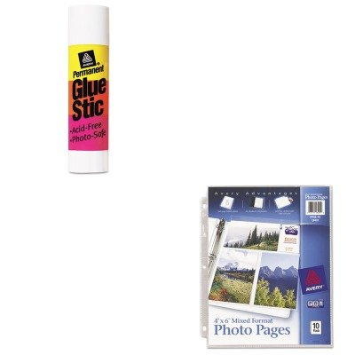 KITAVE00166AVE13401 - Value Kit - Avery Photo Pages for Six 4 x 6 Mixed Format Photos (AVE13401) and Avery Permanent Glue Stics (AVE00166) - Ave00166 Permanent Glue