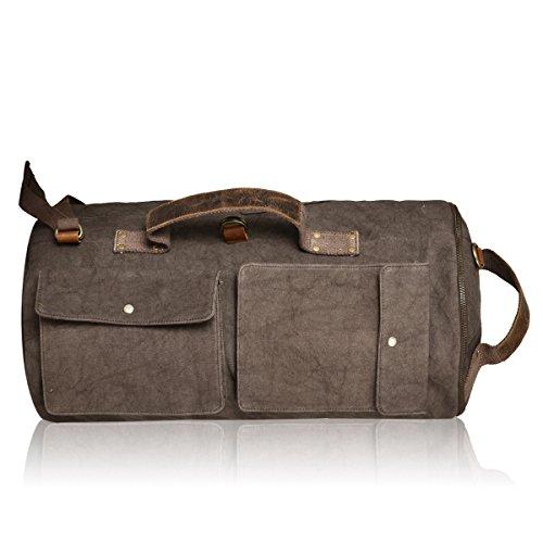 Golden Rider Canvas/Leather Unisex Travel Bag Vintage Duffel Bag.