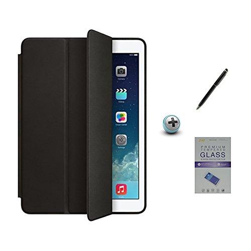 Kit Capa IP Pro 9,7 Smart Case/Capa Traseira/Caneta Touch + Película de Vidro (Cor Preto)
