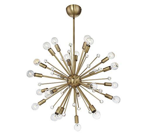 Savoy House Galea 24 Light Chandelier 7-6099-24-322, Sputnik Warm Brass