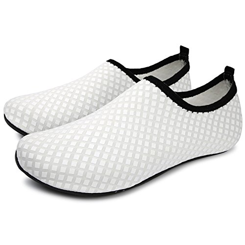 Surf de Run para Unisex Agua de Run L Swim Beach Grid descalza Yoga Zapatos Dive white Piel Zapatos FgwBSSqW7