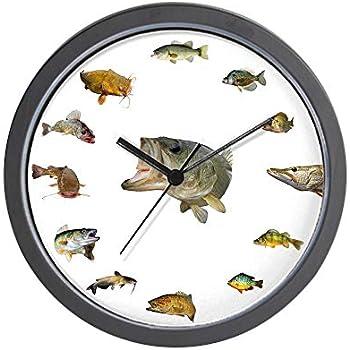 CafePress-Fish Clock-Wall Clock