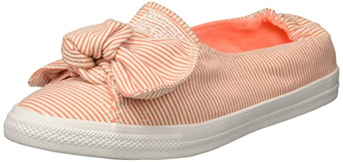 on Slip White Crimson Sneaker Knot Striped Women's Chambray Pulse Converse xXqIfn