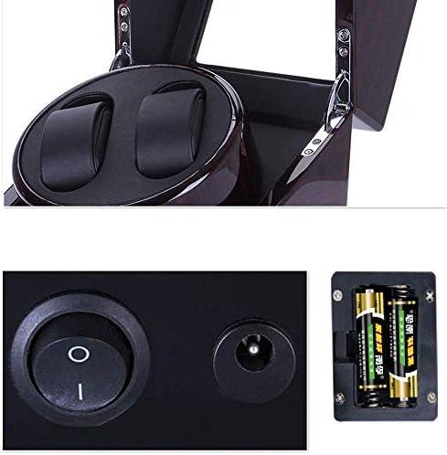 LKB-KB ウォッチワインダー腕時計自動ワインダー、収納ボックス4 + 6ウォッチワインダー4の時計バッテリー