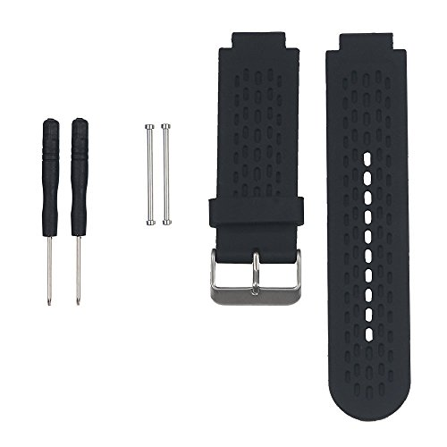 ECSEM Replacement Bands and Straps for Approach S4/S2 GPS Golf Watch & Garmin Vivoactive Smartwatch, black