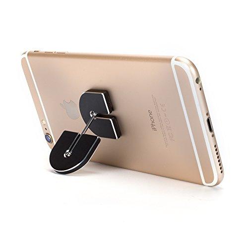 Coolker Cell Phone Finger Ring Holder 360 Rotation Universal Mobile Phone Bracket Car Mount Holder Stand for Mobile Devices GPS