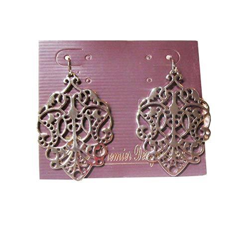 (Premier Designs Jewelry Darcy Earrings in Silver RV$36)
