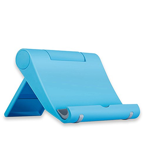 (Cell Phone Stand Holder for iPhone Universal Cell Phone Stand Flexible Desk Holder Stand for Samsung Xiaomi Huawei iPad Tablet (Blue))