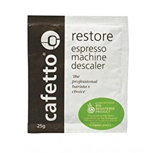 Cafetto Restore Espresso Machine Descaler, Coffee Machine Cleaning Powder for Use In Organic Systems