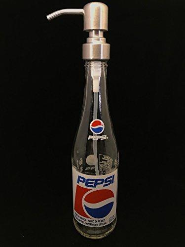 Glass Dispenser for Soap/Lotion - Pepsi - Reclaimed Bottle