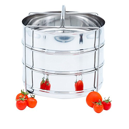 8 QT STEAMER INSERT for INSTANT POT or PRESSURE COOKER ACCESSORIES With 3 insert pans and a GRIPPER (On SALE for Limited Time) For Sale