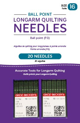 Best Buy! Handi Quilter Longarm Quilting Needles - Ball Point (FG) Size 16 (Pack of 20)