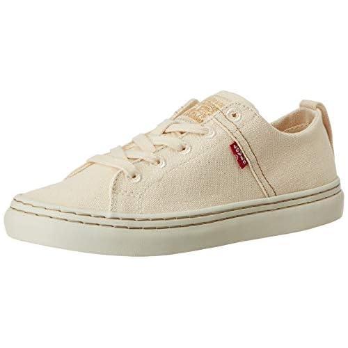 chollos oferta descuentos barato Levi s Global Vulca Low_s Zapatillas para Mujer Blanco R White 51 36 EU