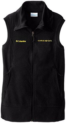 NCAA Oregon Ducks Give and Go Vest, Black, Small Big Game Microfleece Jacket