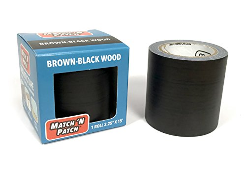 (Match 'N Patch Realistic Repair Tape, Brown-Black Wood)