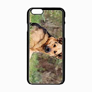 iPhone 6 Black Hardshell Case 4.7inch dog muzzle shepherd lay Desin Images Protector Back Cover by mcsharks