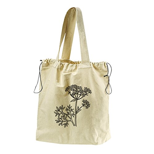 Anise Vintage Look Canvas Drawstring Beach Tote (Anise Drawstring)