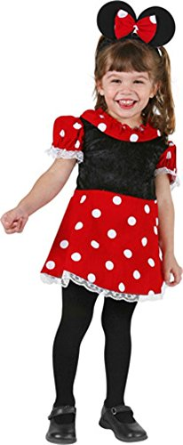 Charades Toddler Mouse Dress Costume, Size Toddler 4T