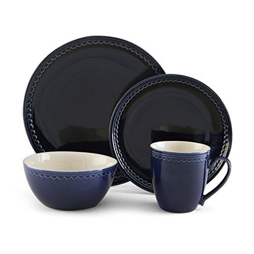 Pfaltzgraff Blue Loop 16-Piece Dinnerware Set, Service for 4 -