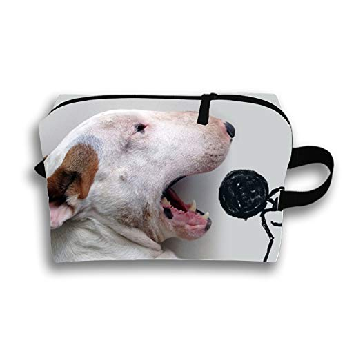 Cosmetic Bags Brush Pouch Singing Doggy Portable Makeup Bag Zipper Wallet Hangbag Pen Organizer Carry Case Wristlet Holder