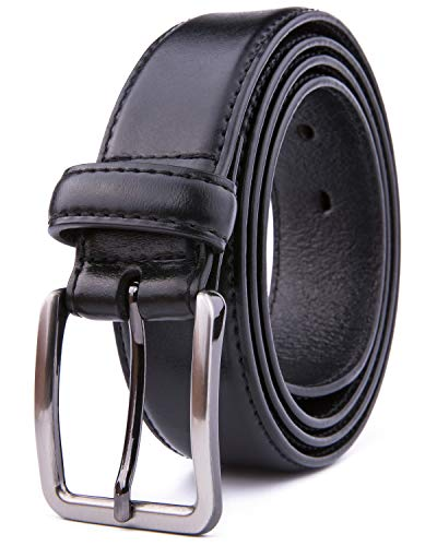 - Men Genuine Leather Belts, Fashion & Classic Design for Casual and Dress (36, Black #1)