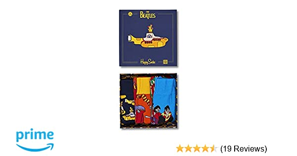 Amazon.com: Happy Socks The Beatles Socks Box Set Blue,Green,Orange,Purple,Red,Yellow 41-46: Clothing